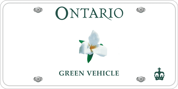Ontario licence plate green